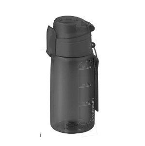 Garrafa Squeeze 550 ml com infusor Fitness Chá Água - Soprano - Preto