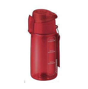 Garrafa Squeeze 550 ml com infusor Fitness Chá Água - Soprano - Vermelho