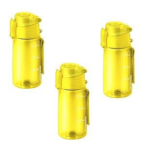 Kit 3 Garrafa Squeeze 550 Ml Com Infusor Chá Academia  - Soprano - Amarelo