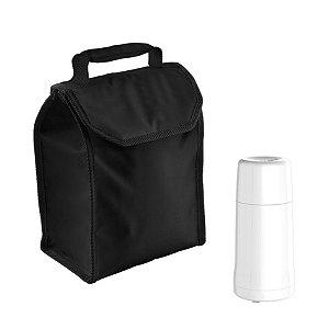 Kit Bolsa Térmica Cooler 4,2 L + 1 Garrafa Térmica Mini 250ml Onix - Soprano - Preto