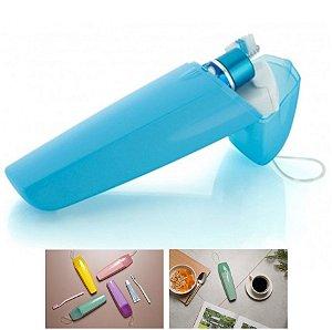 Porta Escovas Creme Dental Portátil Bolsa Mala Viagem Estojo - UP 2000 Ou - Azul
