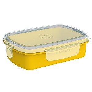 Pote Lancheira 1,2 Litros Refil para Marmita Elétrica Lanche Refeição - Soprano - Amarelo