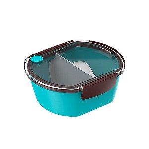 Prato Urbano Tekcor Pote Marmita 700 ml Lanche Refeição - Soprano - Azul