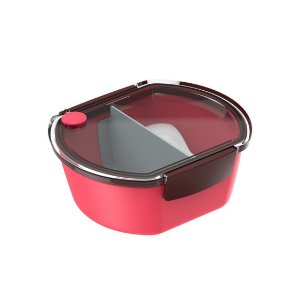 Prato Urbano Tekcor Pote Marmita 700 ml Lanche Refeição - Soprano - Vermelho
