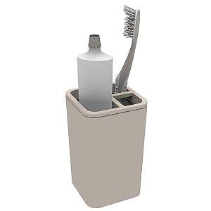 Suporte Porta Escovas De Dente Creme Dental Para Pia Banheiro - Soprano - Gelo