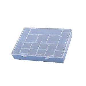 Box Organizador GG Caixa Maleta Com Divisórias - Paramount - Azul