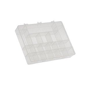 Box Organizador GG Caixa Maleta Com Divisórias - Paramount - Transparente
