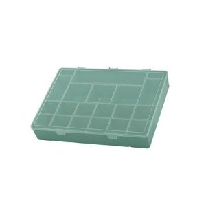 Box Organizador GG Caixa Maleta Com Divisórias - Paramount - Verde