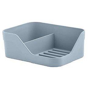 Suporte Organizador Pia Duplo Porta Detergente Bucha Cozinha Trium - OP 505 Ou - Azul Glacial