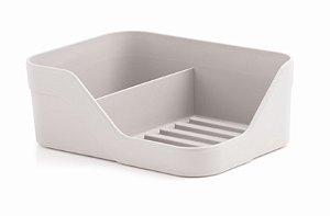Suporte Organizador Pia Duplo Porta Detergente Bucha Cozinha Trium - OP 505 Ou - Branco