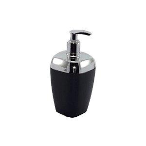 Porta Sabonete Líquido Dispenser Saboneteira Sabão Banheiro Cromado - RDP - Preto