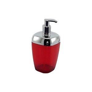 Porta Sabonete Líquido Dispenser Saboneteira Sabão Banheiro Cromado - RDP - Vermelho