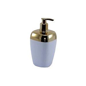 Porta Sabonete Líquido Dispenser Saboneteira Sabão Banheiro Dourado - RDP - Branco