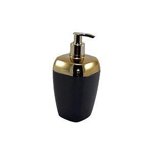 Porta Sabonete Líquido Dispenser Saboneteira Sabão Banheiro Dourado - RDP - Preto