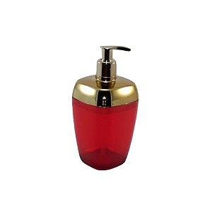 Porta Sabonete Líquido Dispenser Saboneteira Sabão Banheiro Dourado - RDP - Vermelho