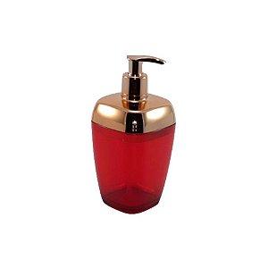 Porta Sabonete Líquido Dispenser Saboneteira Sabão Banheiro Rosé Gold - RDP - Vermelho