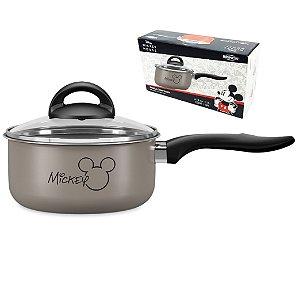 Panela Com Tampa Vidro Ø18cm Alumínio Antiaderente Mickey Disney Cozinha - 7223 Brinox - Prata