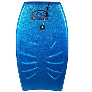 Prancha de Bodyboard 87cm Média Mar Surf Amador Infantil Brinquedo Para Praia - 119 Da Onda - Azul