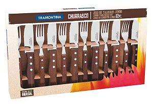 Jogo De Talheres Facas 12pçs Churrasco Jumbo Inox Tradicional - 22299059 Tramontina