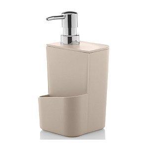 Dispenser Porta Detergente Esponja 650ml Pia Cozinha Trium - DT 500 Ou - Bege