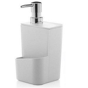 Dispenser Porta Detergente Esponja 650ml Pia Cozinha Trium - DT 500 Ou - Branco