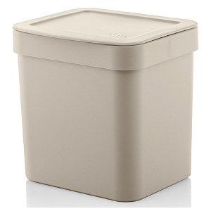 Lixeira Trium 2,5 Litros Porta Cesto De Lixo Cozinha Pia - LX 500 Ou - Bege