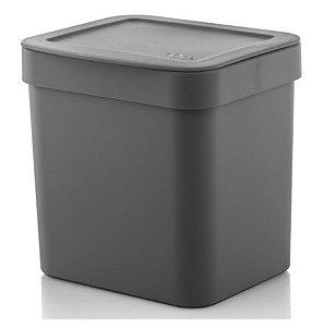 Lixeira Trium 2,5 Litros Porta Cesto De Lixo Cozinha Pia - LX 500 Ou - Chumbo