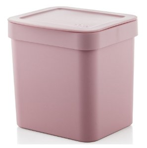 Lixeira Trium 2,5 Litros Porta Cesto De Lixo Cozinha Pia - LX 500 Ou - Rosa