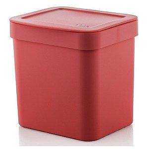 Lixeira Trium 2,5 Litros Porta Cesto De Lixo Cozinha Pia - LX 500 Ou - Vermelho