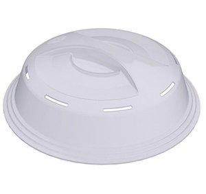 Tampa Para Microondas Protetor Comida Anti Respingos Plástico - UZ143 Uz - Transparente