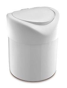 Lixeira Plástica 4 Litros Tampa Abertura Manual Pia Cozinha Banheiro - UZ363 Uz - Branco