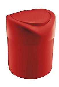 Lixeira Plástica 4 Litros Tampa Abertura Manual Pia Cozinha Banheiro - UZ363 Uz - Vermelho