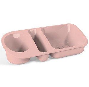 Organizador De Pia Suporte Porta Detergente Esponja Sabão Cozinha Plus - UZ322 Uz - Rosa