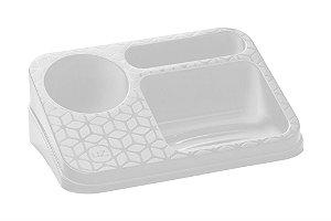 Organizador De Pia Suporte Porta Detergente Esponja Sabão Cozinha Bancada - UZ395 Uz - Branco