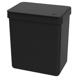 Lixeira 2,5L Cesto De Lixo Bancada Pia Cozinha Escritório - 17009 Coza - Preto