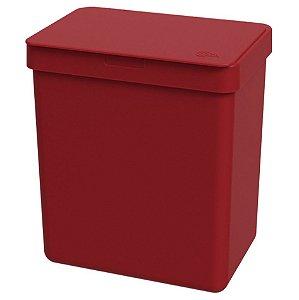Lixeira 2,5L Cesto De Lixo Bancada Pia Cozinha Escritório - 17009 Coza - Vermelho