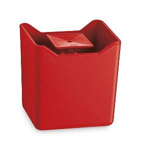 Dispenser De Pia Porta Detergente Líquido Esponja Cozinha Premium - UZ357 Uz - Vermelho