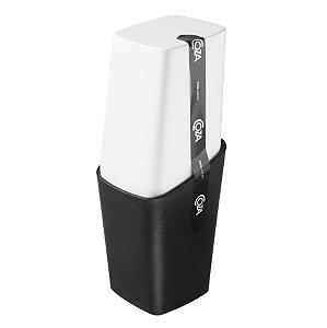Porta Escova De Dente Creme Dental Com Tampa Pia Banheiro - 10421 Coza - Preto