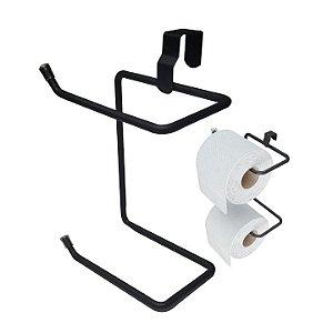 Suporte Duplo Papel Higiênico Para Caixa Acoplada Linha Black Banheiro - 1453 Stolf