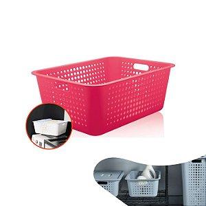Caixa Cesta Organizadora Grande 40 Litros Multiuso Roupas Lavanderia Closet - CO 460 Ou