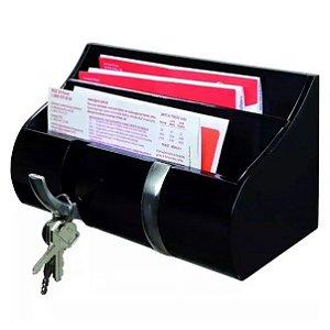 Cabideiro Mdf Porta Chaves Correspondências Com 2 Ganchos - Pratk
