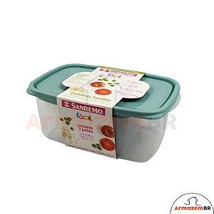 Conjunto 3 Potes Hermético Plástico Alimentos Mantimentos Geladeira - 190/6C Sanremo
