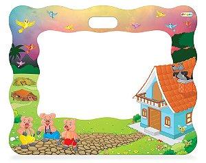 Lousa Quadro Infantil Criança Três Porquinhos Educativo Escolar Quarto - 341 Junges