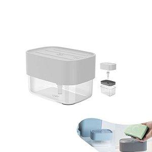 Dispenser Porta Detergente Líquido 550ml Suporte Esponja Pia Cozinha Trium - DE 500 Ou