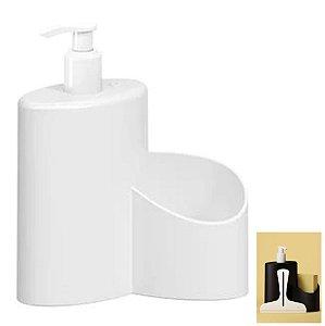 Dispenser Porta Detergente Rodinho 600ml Cozinha Pia Abraço Basic - 10864 Coza - Branco