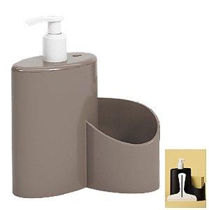 Dispenser Porta Detergente Rodinho 600ml Cozinha Pia Abraço Basic - 10864 Coza - Cinza