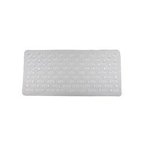 Tapete Box Antiderrapante Banho Chuveiro Ventosa Banheiro 69x37cm - 768 Paramount  - Transparente