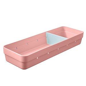 Organizador De Gavetas Plástico Divisor Objetos Talheres Cozinha Quarto - OL 500 Ou - Rosa