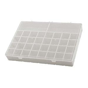 Box Organizador PLUS Caixa Maleta Com Divisórias Remédios - Paramount - Cinza