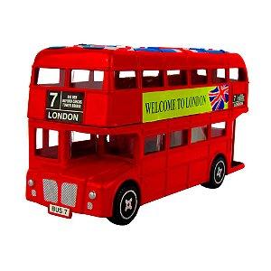 Ónibus de Metal Estilo Cofre Londres